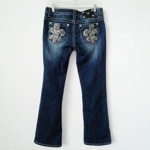 Miss Me jeans embellished fleur-de-lis size 30